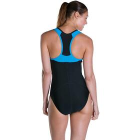speedo Speedo Fit Pro Swimsuit Women Black/Winsdor Blue/White